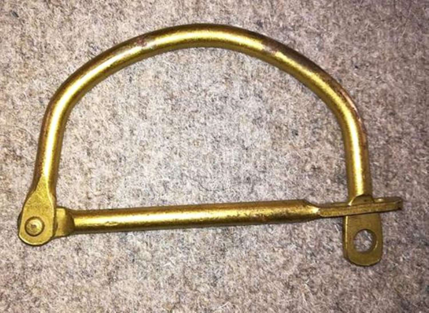 Great War Era Brass D Shape Kit Bag Padlock.