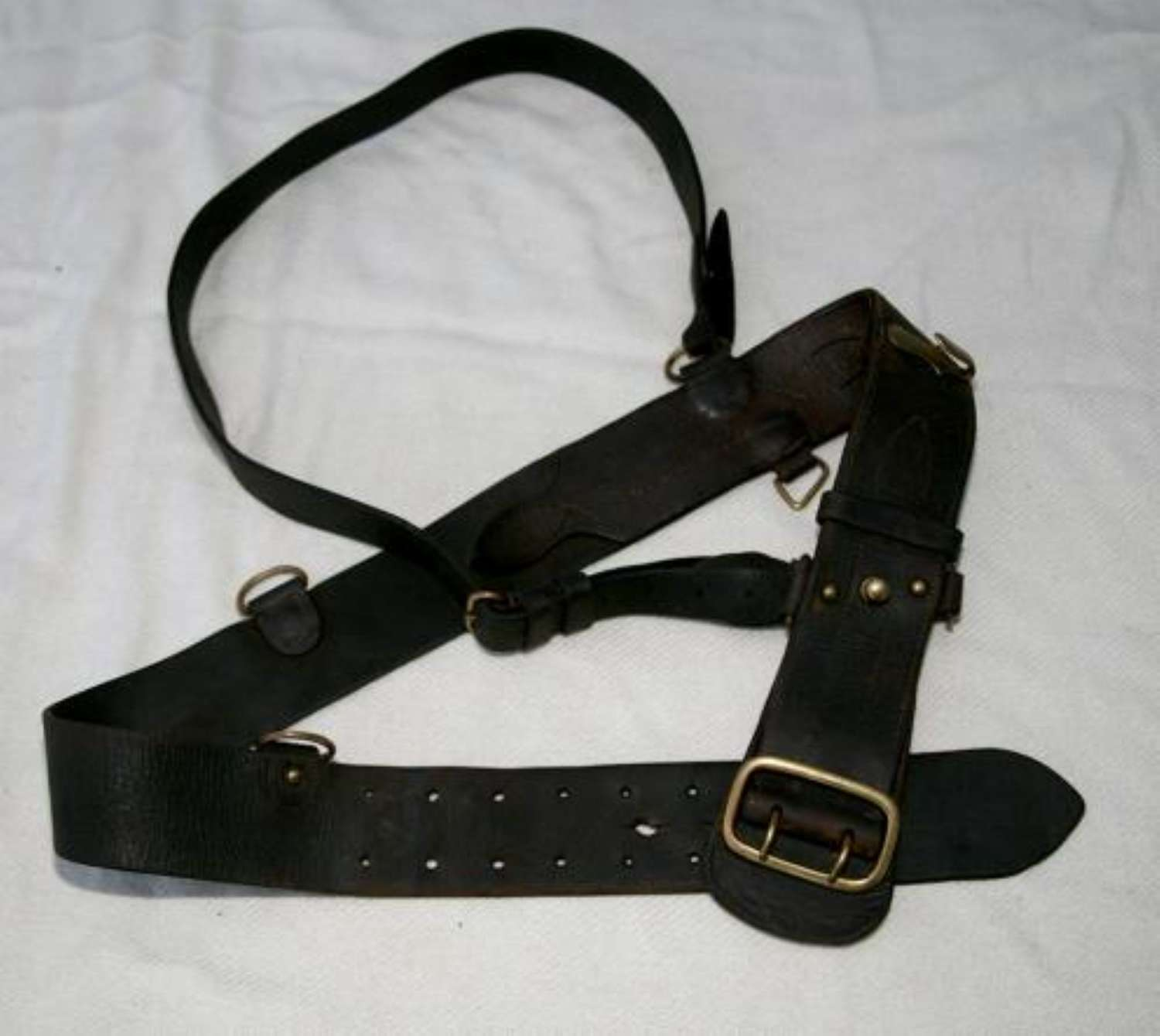 1917 Officer's Sam Browne Belt and Strap