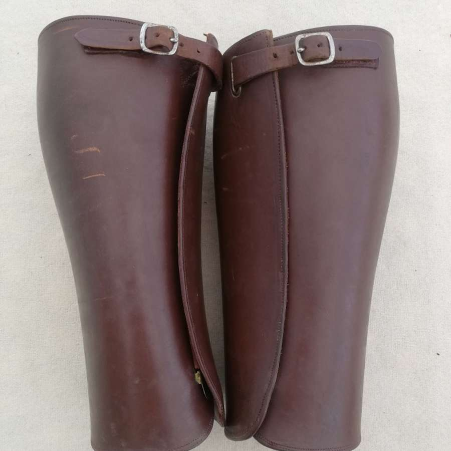 Great War Officers Style Leather Gaiters