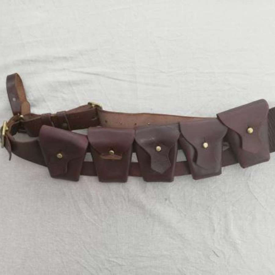 1903 Pattern South African Leather 5 Pocket Ammunition Bandolier