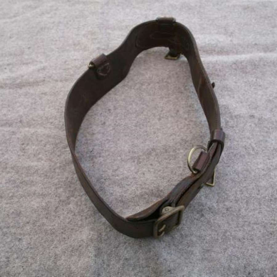 Sam Browne Officers Leather Belt