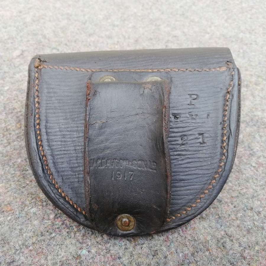 1917 Dated RHA Pistol Leather Ammunition Pouch 1903 Pattern