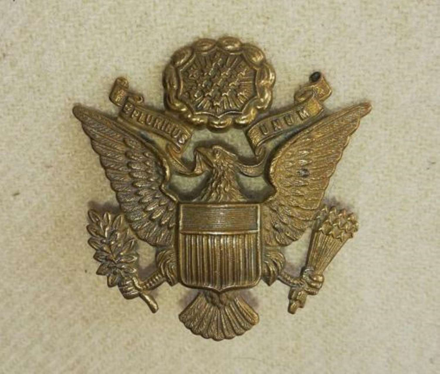 US Army/ USAAF Brass Officers Cap Badge