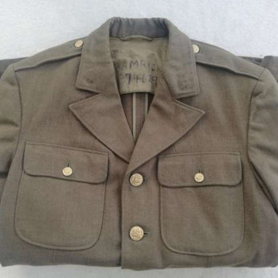1941 Dated WW2 US Wool EM Jacket 1937 Size 37L