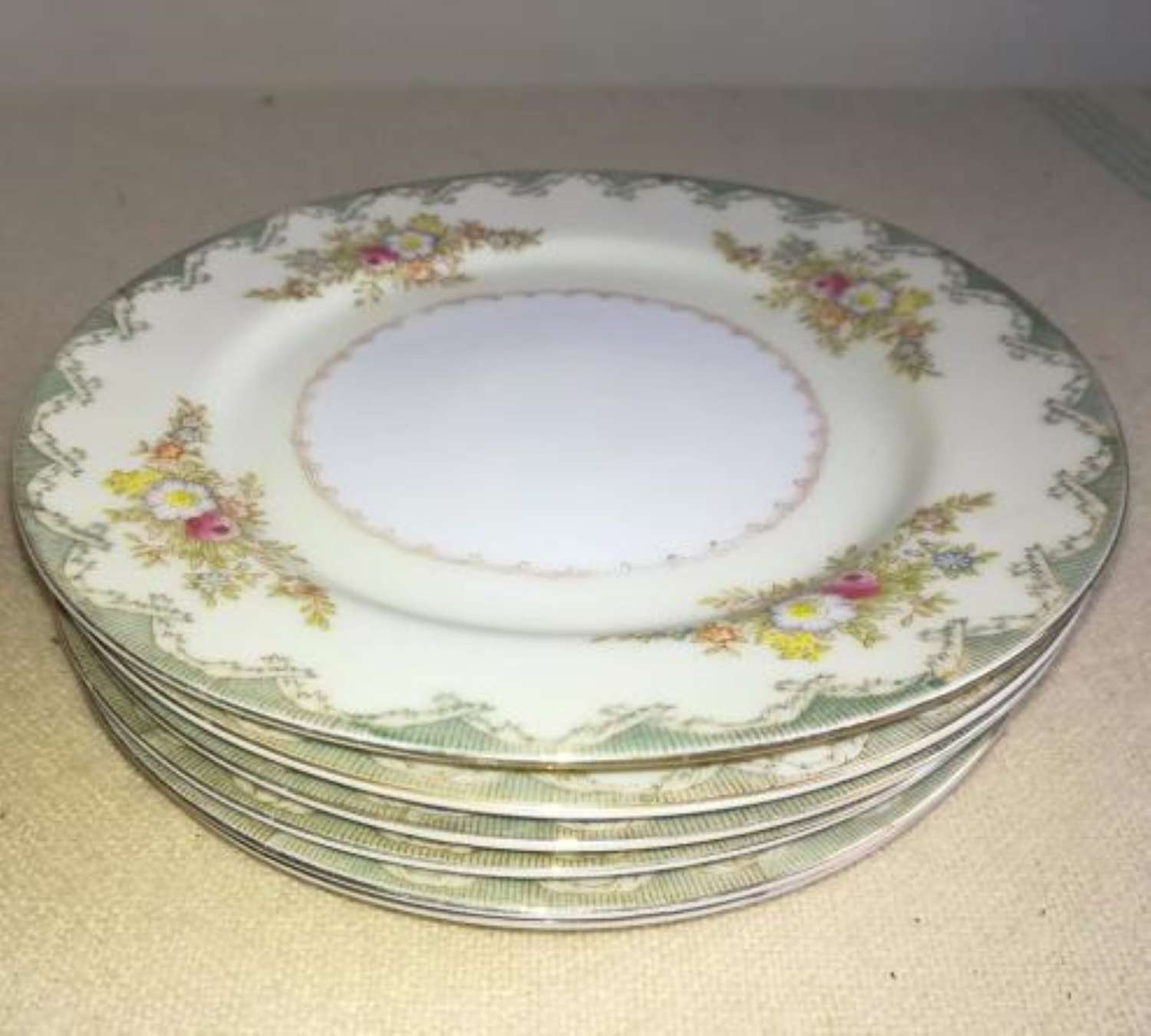 Set of 6 China Plates 'Occupied Japan' Made