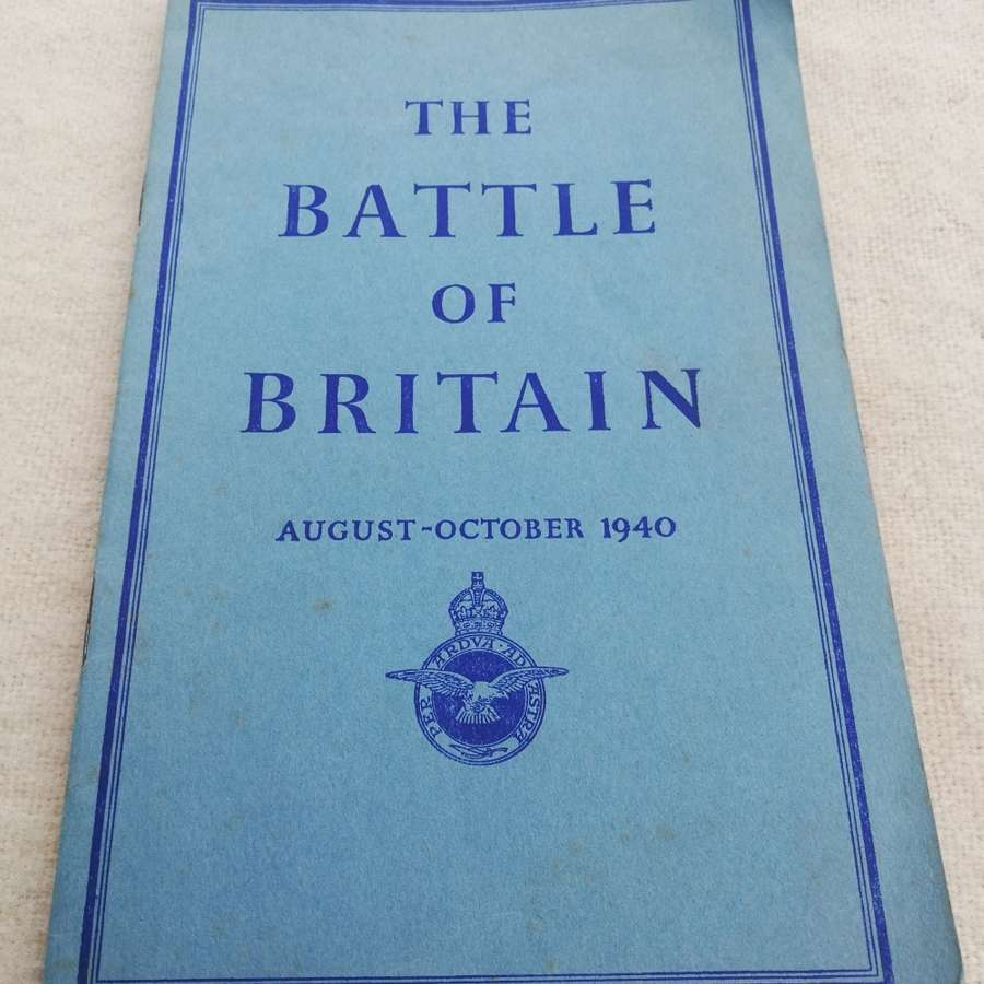 'Battle of Britain' Air Ministry Booklet 1941