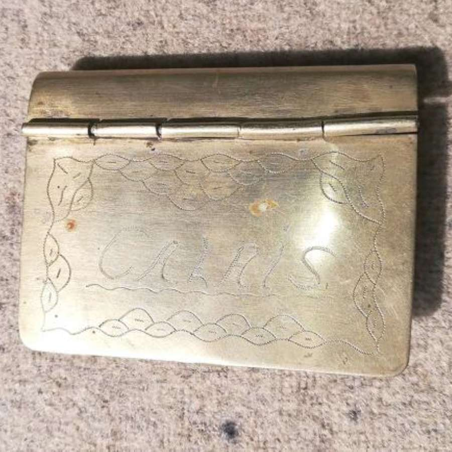 Great War Period Hand Stamped Trench Art Cigarette Box