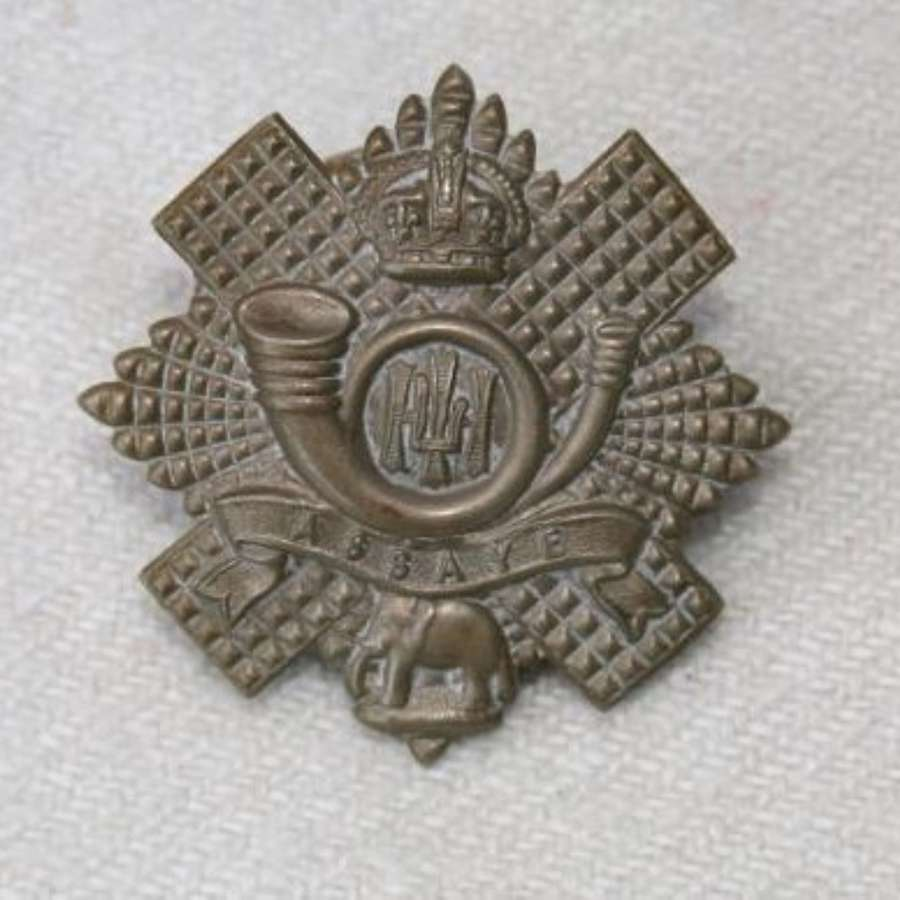 Highland Light Infantry Long Scroll Cap Badge C.1898-1921