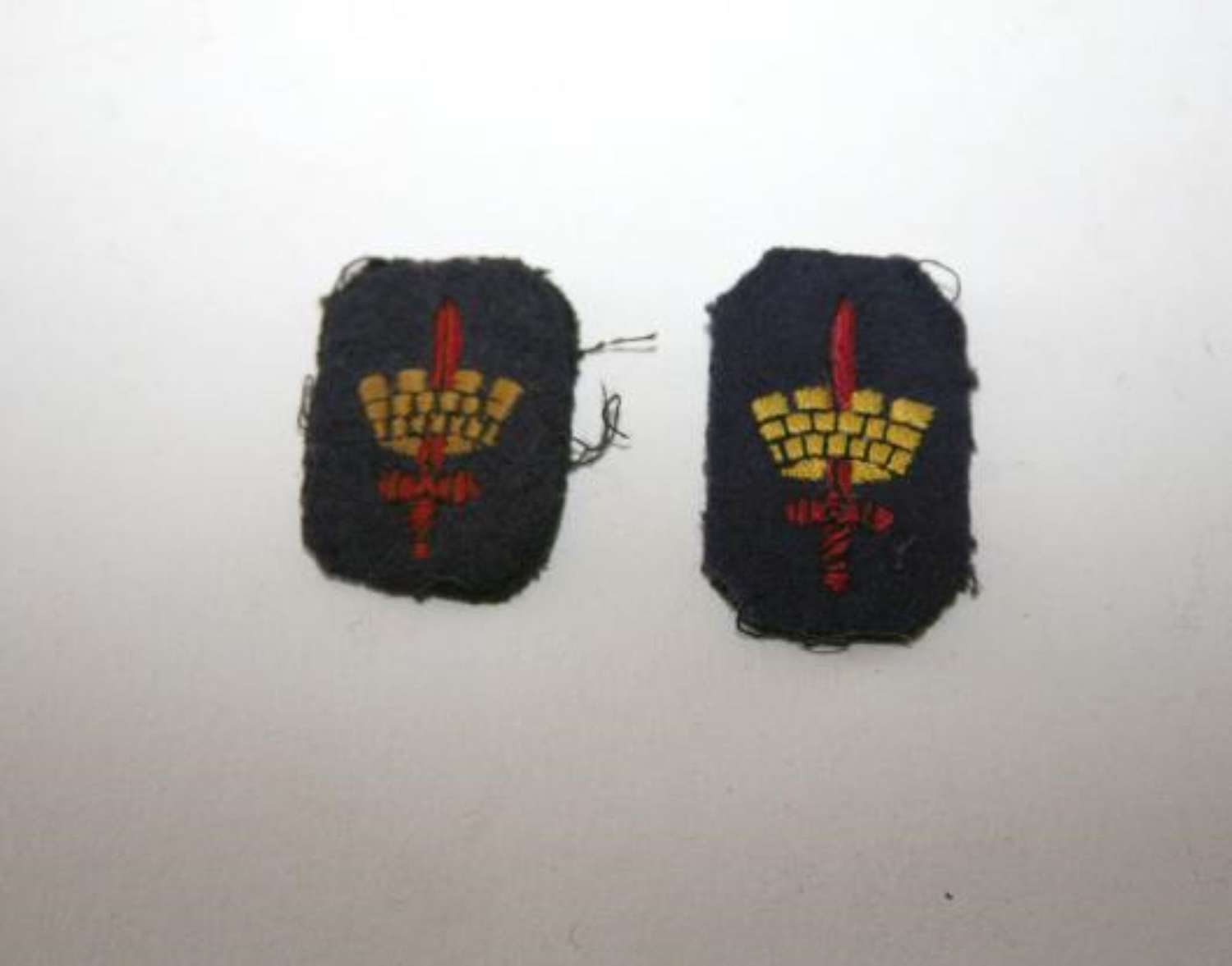 London District Cloth Embroidered Patches