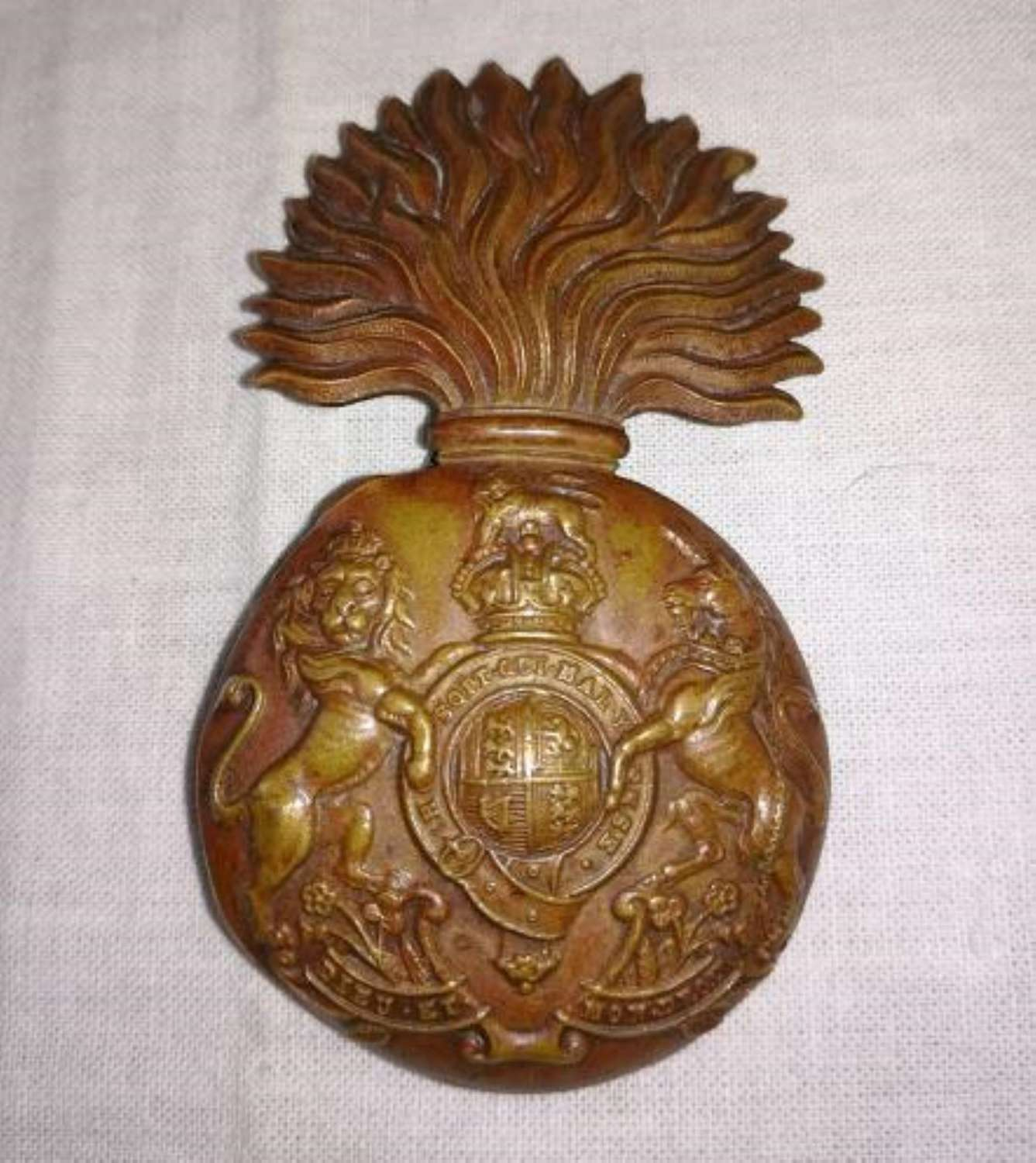 Royal Scots Fusiliers Brass Other Ranks Cap Badge