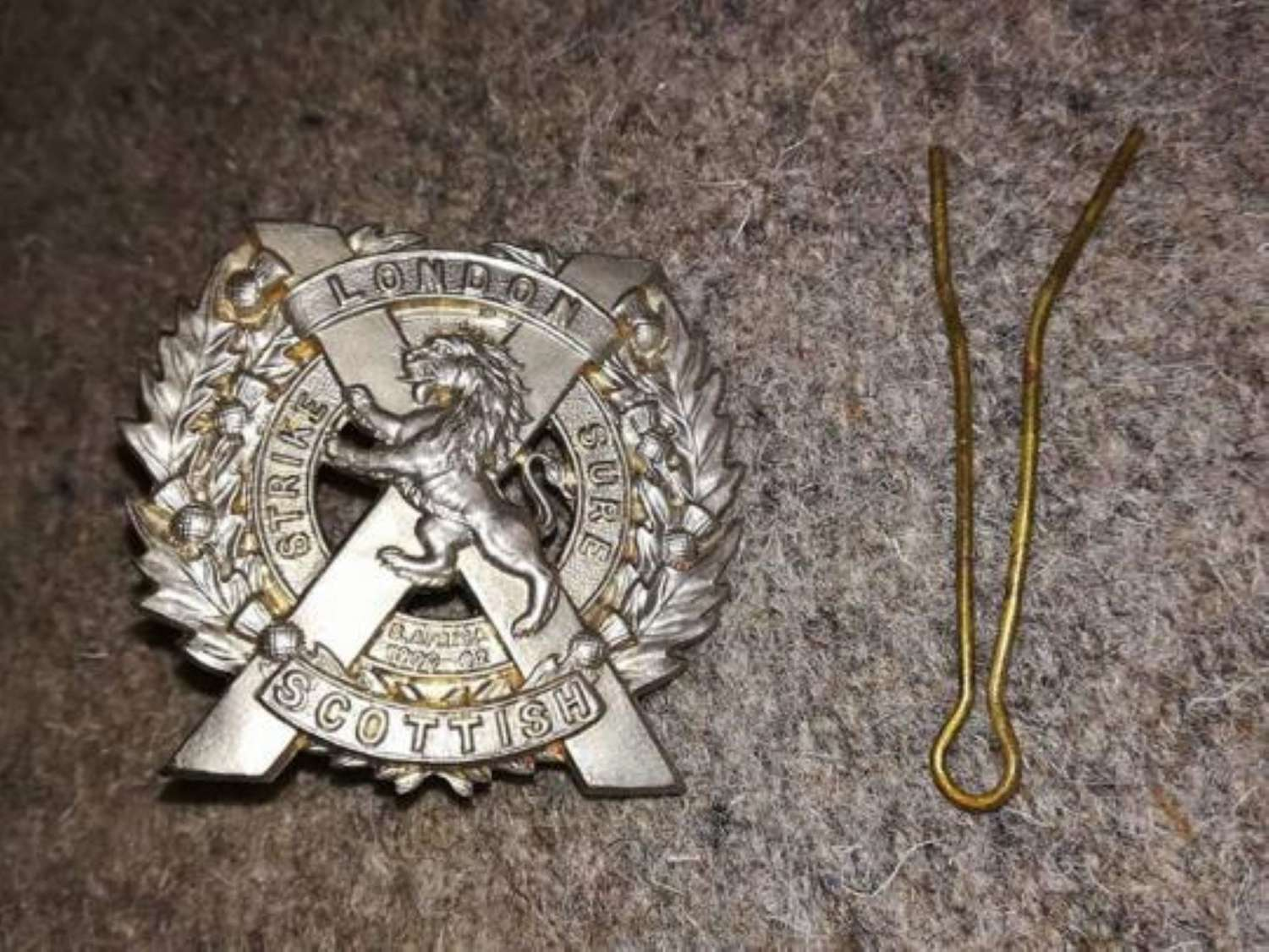London Scottish Metal Sporran Badge