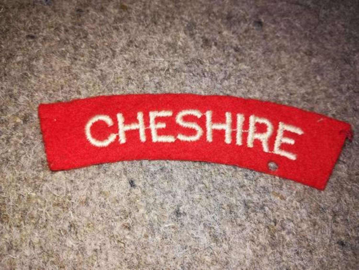 Cheshire Regiment Embroidered Cloth Shoulder Title