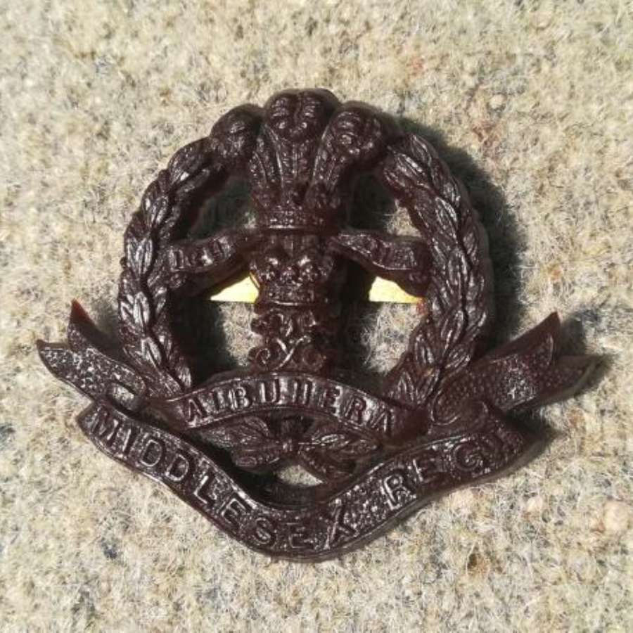 Plastic Economy Middlesex Cap Badge