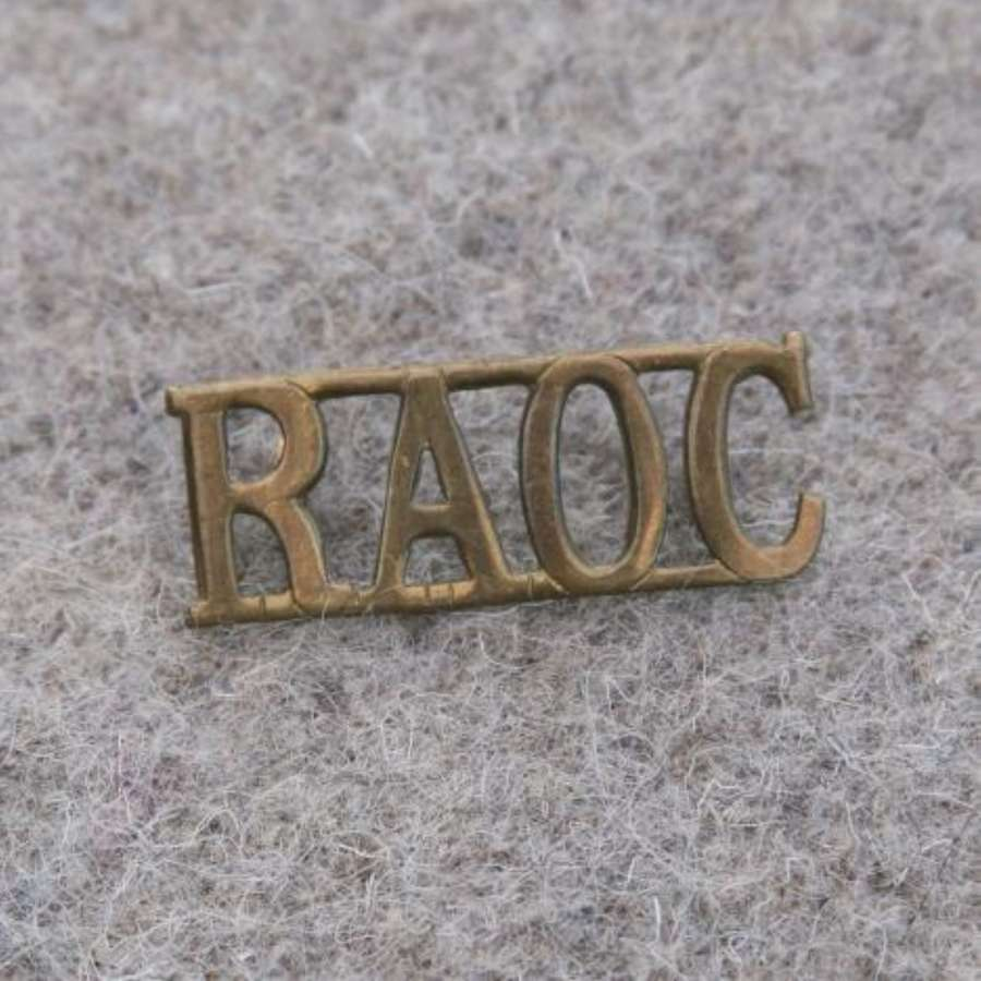 Single RAOC Brass Shoulder Title