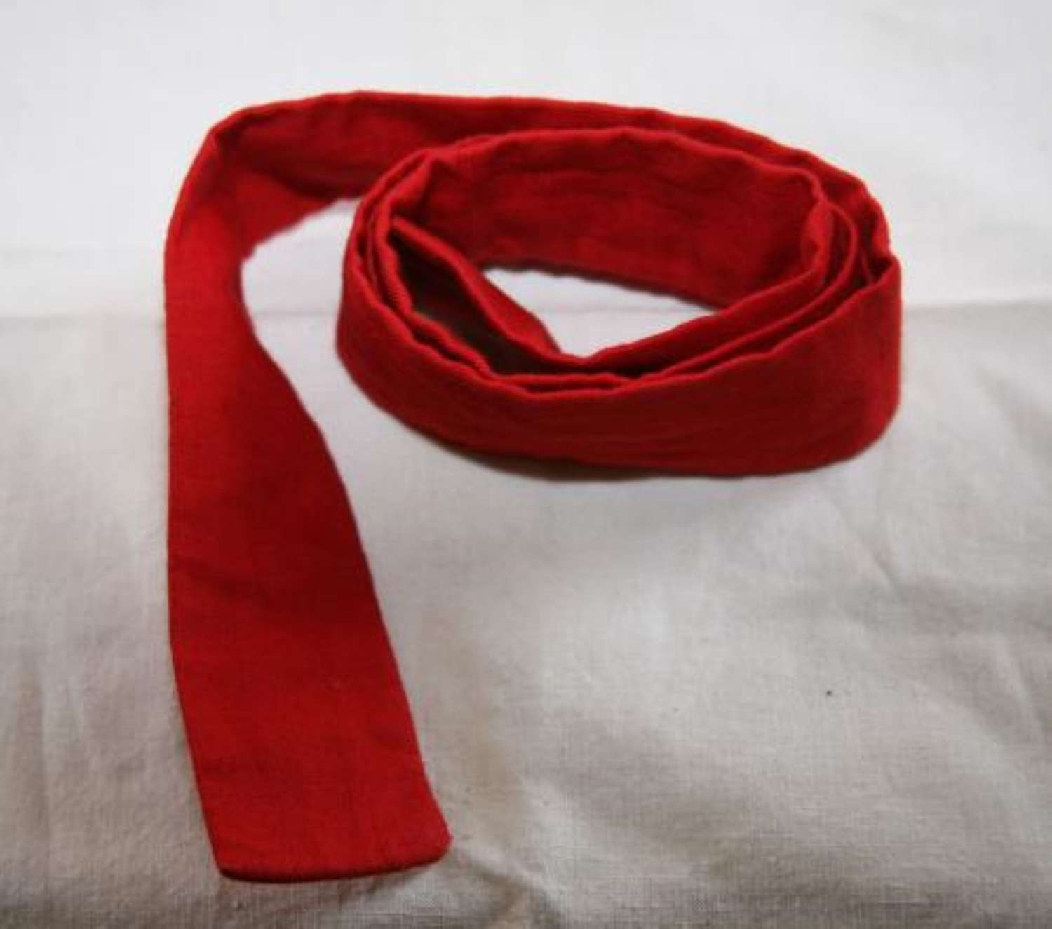 Hospital Blues Issue Red Cotton Convalescent Tie