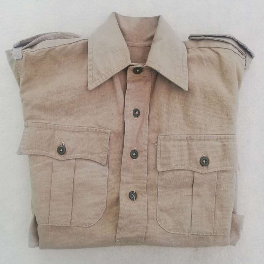 Early Pattern British Khaki Drill Cotton OR Shirt