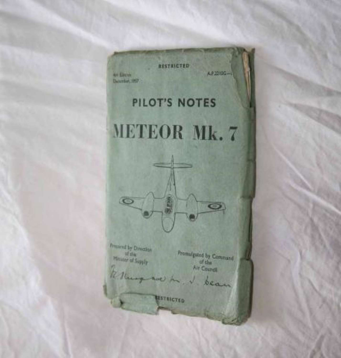 1957 4th Edition Meteor Mk 7 Pilot's Notes