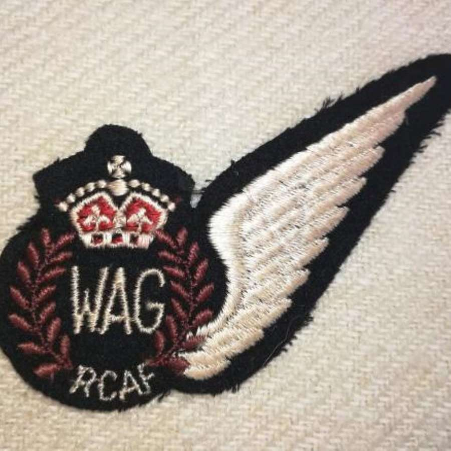 Flat RCAF WAG Cloth Aircrew Brevet