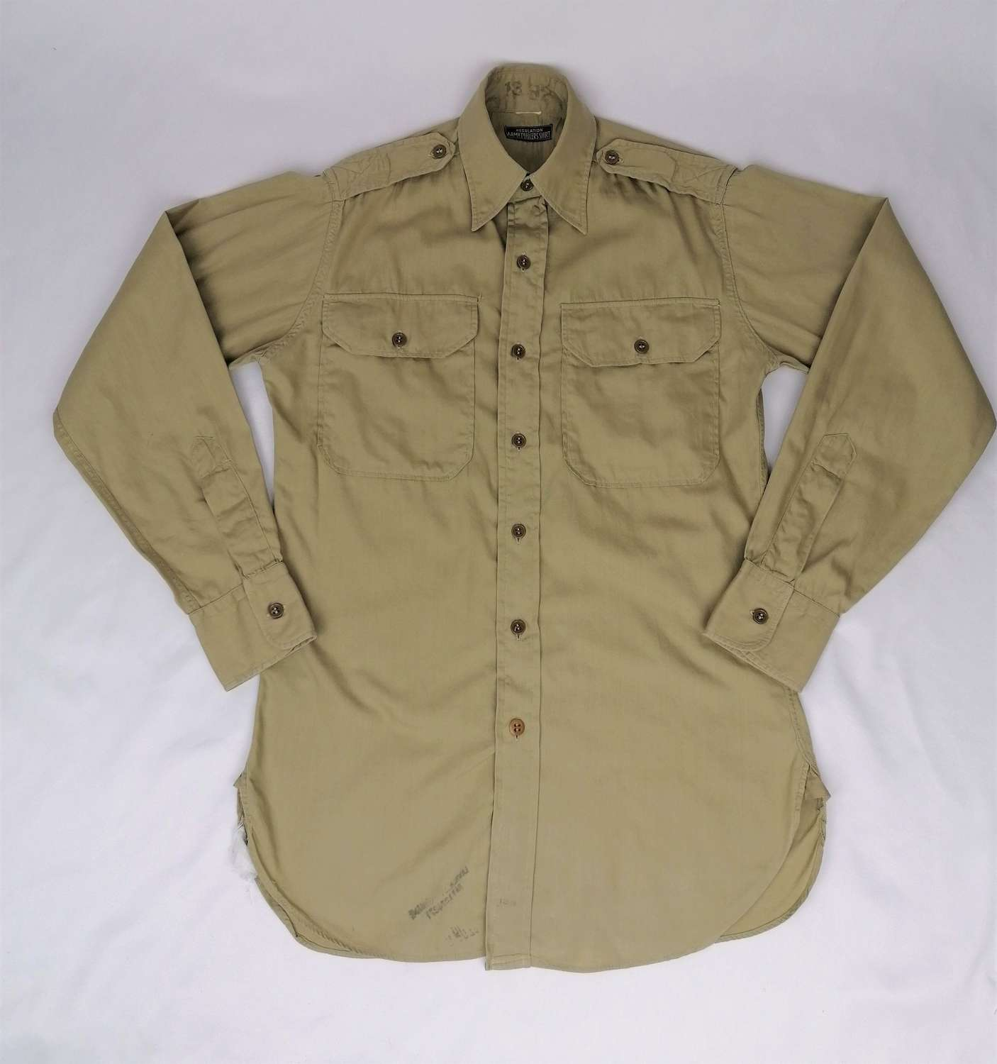 US Army Officers Tan Khaki Regulation Shirt