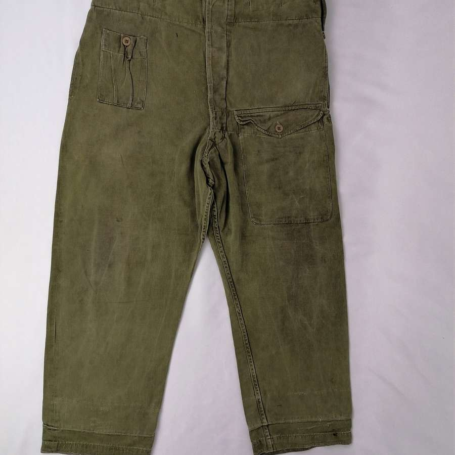 1944 Denim Battle Dress Working Overall Trousers