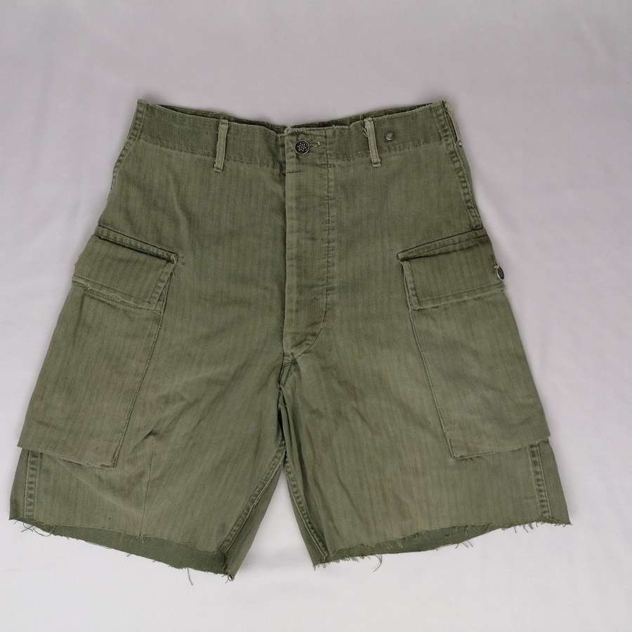 US Army HBT Shorts Cut Down Trousers