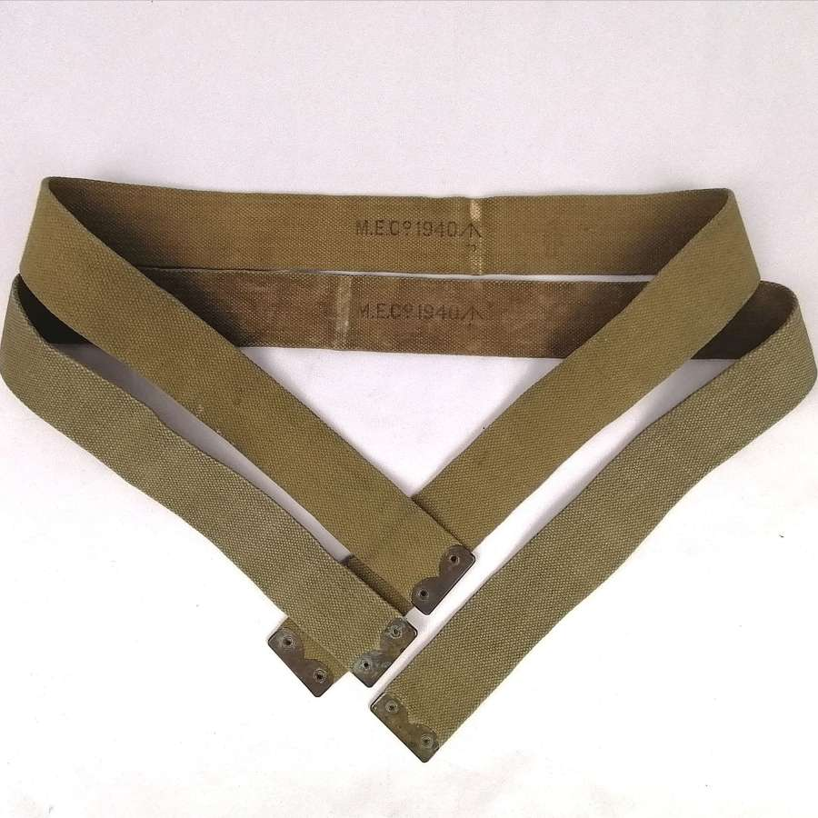 1940 Dated 1908 Pattern Webbing Braces Pair