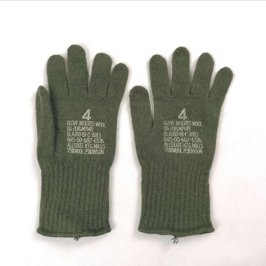 M1949 US Army Wool Winter Gloves Size 4