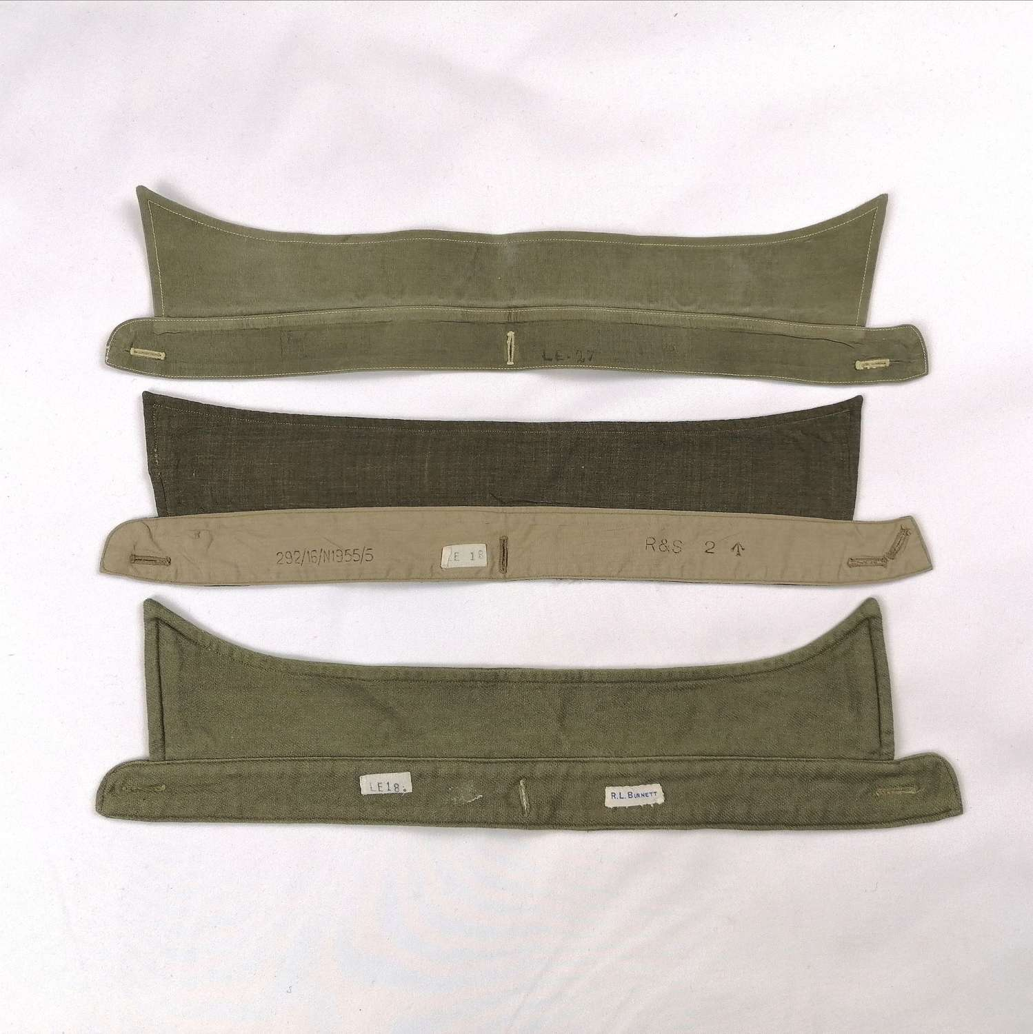 British Army Officers Detachable Collars x3