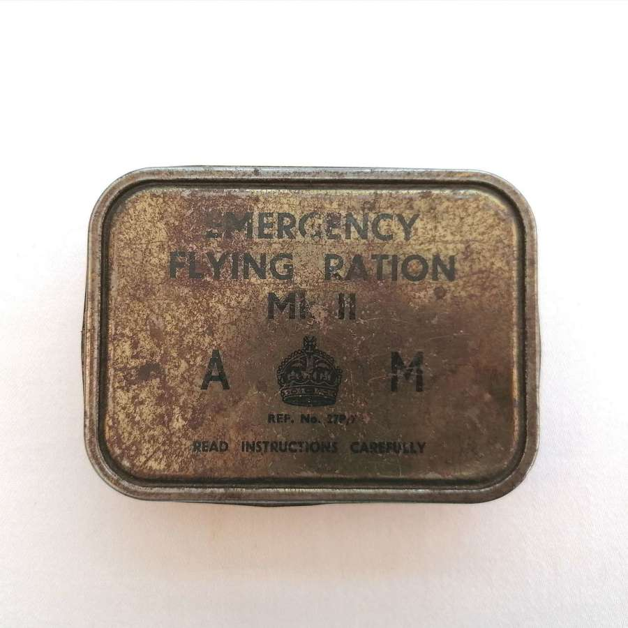WW2 RAF Emergency MK II Flying Ration Tin
