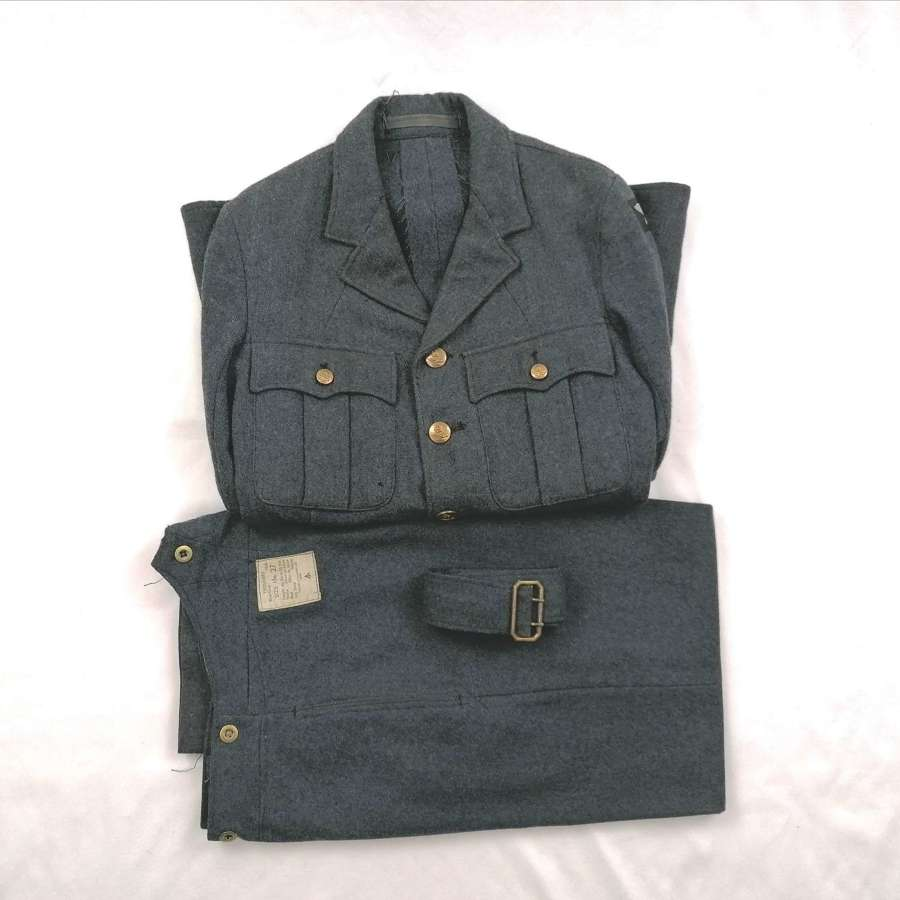 1941/42 RAF OA Service Dress Matching Uniform Jacket Size 13/27