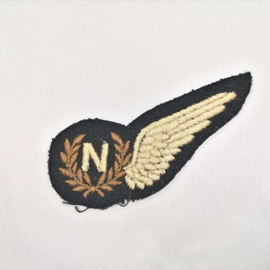 WW2 RAF Flat Navigator Embroidered Aircrew Brevet