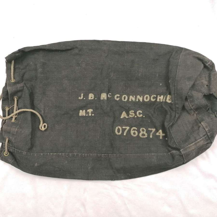 Great War Army Service Corps Black Kit Bag